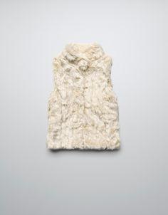 SHEEPSKIN GILET - Coats - Girl (2-14 years) - Kids - ZARA United Kingdom