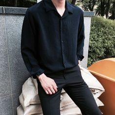 36 Top Black Fashion Styles For Real Men Ideas Makeup Makeup Dupes Palette Removal Style Art Care Stylish Mens Outfits, Casual Outfits, Men Casual, Korean Fashion Men, Mens Fashion, Vintage Fashion Men, Classic Fashion, Moda Indie, Black Outfit Men