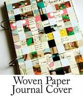 woven paper journal cover