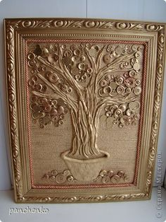 Картина панно рисунок 23 февраля 8 марта День рождения Новый год Коллаж Пуговичное дерево Пуговицы Тесто соленое фото 1