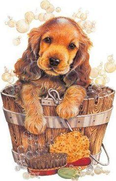 Картинки собачек для декупажа