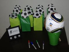 Real Party/Fiesta Friday (On A Sunday) - Super Striker Soccer Party - Revel and Glitter Soccer Birthday Parties, Soccer Party, Sports Party, Girl Birthday, Soccer Ball, Birthday Ideas, 11th Birthday, Sports Gifts, Basketball