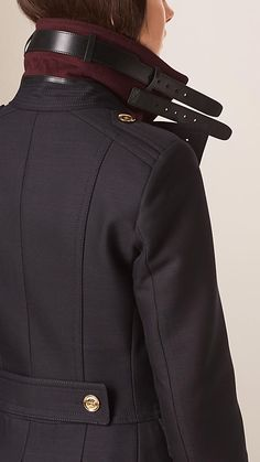 A Burberry military coat in a sculptural cotton and wool blend with a wide revere collar and leather throat latch. Discover the women& o… Estilo Fashion, Boho Fashion, Ideias Fashion, Winter Fashion, Womens Fashion, Modest Fashion, Le Lou, Coats For Women, Jackets For Women