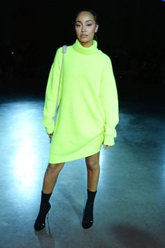 Leigh-Anne Pinnock attends the Christopher Kane front row during London Fashion Week September 2018 at the Tate Modern on September 2018 in London, England. Get premium, high resolution news photos at Getty Images Leigh Little Mix, Ariana Grande, Dress Outfits, Cool Outfits, Daily Street Style, Leigh Ann, 1 Girl, Christopher Kane, Fashion Editor