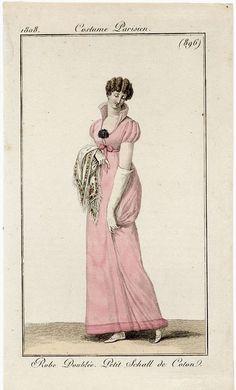 Regency fashion plates | Costume Parisien 1808. Regency fashion plate.