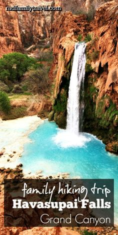 Add hiking the Havasupai Trail with your kids to your adventurous family vacation bucket list. Plan ahead, make reservations early, and see the  Grand Canyon from the inside out!