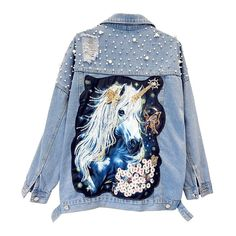 Overeating Tips Weight Loss Printing Pattern Shape Dress With Jean Jacket, Unicorn Fashion, Coats For Women, Clothes For Women, Videos, Jeans, Korea Fashion, Kawaii Clothes, Cute Woman