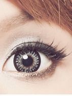 GEO Princess Mimi Sesame Gray colored contacts (circle lens) offer full, opaque color to conceal your natural eyes!
