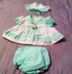 Vintage Catton Candy 0-6 months 3 piece girls set https://www.etsy.com/shop/AmeliaBabble