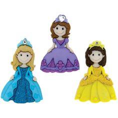 Dress It Up Pretty Princess - Button Mania Novelty Buttons