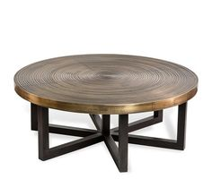 """Picture of Antique Brass 42""""Dia Coffee Table"""