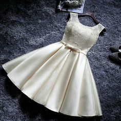 A dress for a doll or for a woman Prom Dresses 2017, A Line Prom Dresses, Satin Dresses, Dance Dresses, Short Dresses, Girls Dresses, Formal Dresses, Pretty Dresses, Beautiful Dresses