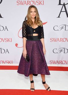 Hannah Davis in Milly at the 2015 CFDA Fashion Awards. See all the looks from the night.