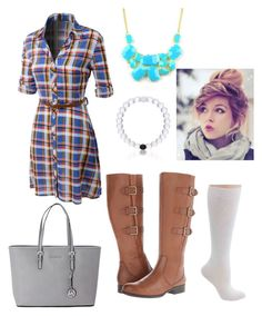 """Untitled #123"" by swimmergurl1234 on Polyvore featuring LE3NO, Naturalizer, Emi Jewellery, Michael Kors and Everest"