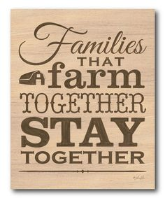 Courtside Market Farm Together Wrapped Canvas | zulily