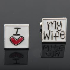 Lovely I heart my wife Cufflinks Wedding Gift For by bkadoremi I Love My Wife, My Love, Groomsmen Accessories, Perfect Wedding Dress, Groom And Groomsmen, Buying Wholesale, Small Gifts, Wedding Gifts, Wedding Stuff