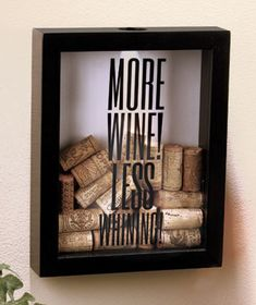 Wine Cork Holder Shadow Boxes—could probably make this! :D