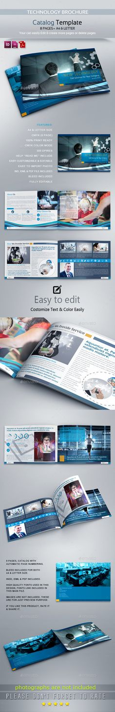 Technology Brochure Catalog Template V3 | Brochures, Catalog And Printing