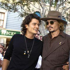 Johnny Depp and Orlando Bloom