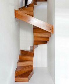 OMG By CrashFistFight Modern Staircase, Staircase Design, Small Space  Staircase, Narrow Staircase,