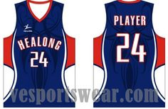 Youth basketball uniforms reversible