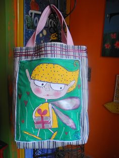 handmade+paint bag by Despina Melianou@koukoumavla