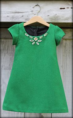 Sewing for Scarlett: Emerald Wool + Sparkle