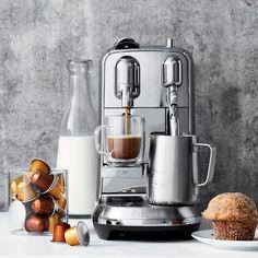 Nespresso Creatista Plus Espresso Machine by Breville - kitchen style - Coffee Machine Expresso, Cappuccino Machine, Best Espresso Machine, Espresso Maker, Coffee Maker, Laura Lee, Nespresso Machine, Coffee Facts, Kitchen Gadgets