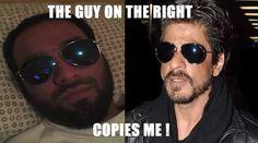 Me and Shahrukh Khan together #desi #meme #joke