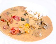 Thaicurry med sopp og paprika