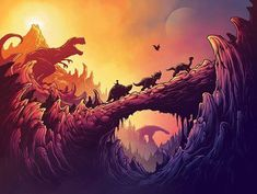 giclee print 24 x 18 inches numbered, limited edition of 50 unframed inspired by The Land Before Time Posters Geek, Online Gallery, Art Gallery, Dan Mumford, Art Of Dan, You Can't See Me, Land Before Time, Acid Art, Alternative Movie Posters
