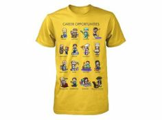 Minecraft Career Opportunities Youth Yellow T-Shirt S Celina Minecraft Outfits, Minecraft Clothes, Minecraft Party, Yellow T Shirt, Career Opportunities, Geek Culture, Boys T Shirts, Branded T Shirts, Tees
