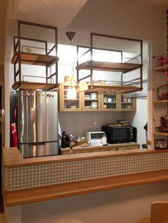Cafe Shop, Cafe Bar, Ceiling Shelves, Shelving, Kitchen Bar Design, Kitchen Dinning, Kitchen Shelves, Cool Kitchens, New Homes