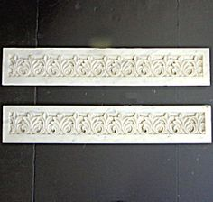 Pair of 19th Century French Antique Marble Decorative Friezes