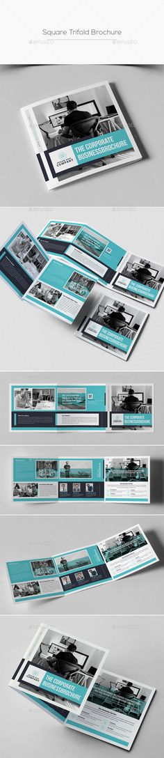 Square #Trifold Brochure - Corporate #Brochures Download here: https://graphicriver.net/item/square-trifold-brochure/20331174?ref=alena994