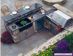 Supreme Kitchen Remodeling Choosing Your New Kitchen Countertops Ideas. Mind Blowing Kitchen Remodeling Choosing Your New Kitchen Countertops Ideas. Outdoor Kitchen Countertops, Outdoor Kitchen Bars, Backyard Kitchen, Outdoor Kitchen Design, Backyard Patio, Outdoor Kitchens, Patio Bar, Simple Outdoor Kitchen, Backyard Landscaping