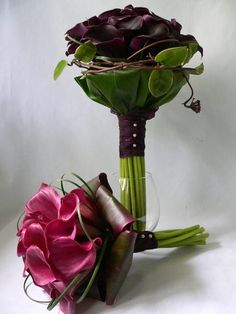 stylish weddings Atlanta Ga, exotic bridal bouquet, bridal black calla, bridal bouquets Atlanta Ga lilies