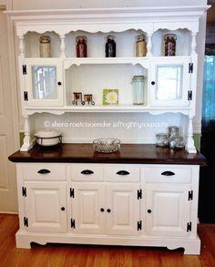Portfolio Grey Hutch Buffet China Cabinetuturndesign Extraordinary White Kitchen Hutch Decorating Inspiration