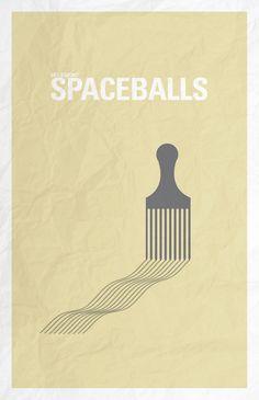 Spaceballs minimalist poster