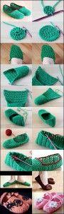 Wonderful DIY Crochet Slipper
