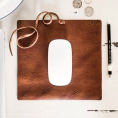 Need to work on the go? Do it in style with this beautiful soft leather mousepad. Made from vegetable tanned cowhide, the pad can be rolled and carried in your laptop bag without worrying about its size or weight.