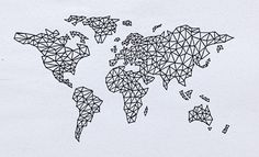 World map made by Karoline Hansen