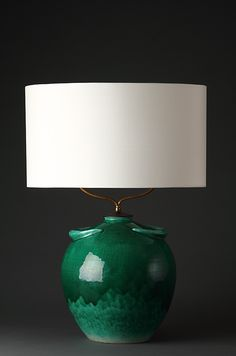 Jean Besnard ceramic lamp, c. 1940