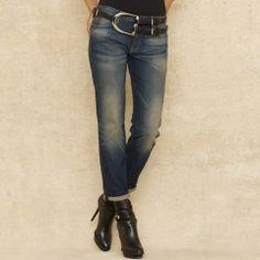 Slim-Fit Boyfriend Jean - Blue Label Denim - RalphLauren.com