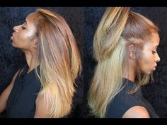 Actually see footage from me in the salon getting my hair dyed. I went from dark brown to a ginger blonde in one salon visit. Pressed Natural Hair, Blonde Natural Hair, Blonde Hair Black Girls, Dying My Hair, Honey Blonde Hair, Natural Hair Tips, Hair Color For Black Hair, Colored Natural Hair, Beauty