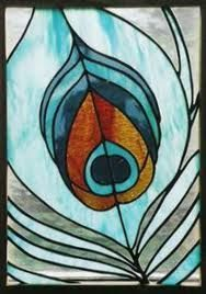 Image result for peacock feather stained glass