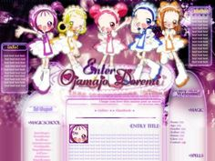 Anime website layout