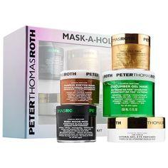 Mask-A-Holic Kit - Peter Thomas Roth | Sephora Skin Peeling On Face, Pumpkin Enzyme Mask, Peter Thomas Roth, Gel Mask, Hydrating Mask, Peel Off Mask, Christmas Gifts For Women, Sephora, Skin Care