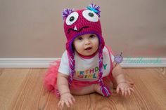 Crochet Monster Hat  (Various sizes/colors available). $17.00, via Etsy.