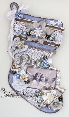 Pimped Up Stocking created by Eulanda Silvey. For more details check out: http://southernchipboard.blogspot.ca/2014/11/pimped-up-stocking.html. To order this amazing chipboard check out: www.southernridge.net